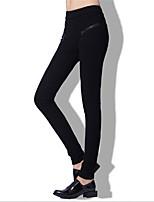 ARNE® Femme Taille Normale Skinny Noir / Gris Pour tous les jours Pantalon-A117