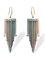 TIANSHE Women'S  Europe and the United States personality Tassel Earrings Alloy 1 pair