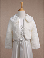 Kids' Wraps Coats/Jackets Long Sleeve Faux Fur Ivory Wedding / Party/Evening / Fold-over Collar Pattern Open Front