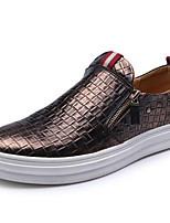 Men's Loafers & Slip-Ons Spring / Summer / Fall / Winter Comfort Nappa Leather Casual Big Size Black / Silver / Gold