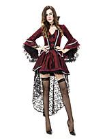Costumes Zombie / Vampire / Esprit Halloween / Noël / Carnaval Rouge / Noir Vintage Térylène Robe