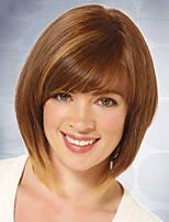 pelucas cosplay de color marrón calientan la peluca cosplay del partido resistente al por mayor sintética recta corta