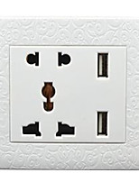Smart Phone Wall Outlet 86 Concealed Straight Charge Multifunction Five-hole 5 With Usb Panel 2A