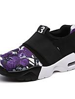 Черный / Фиолетовый-Женский-На каждый день-Ткань-На плоской подошве-На плокой подошве-Кеды