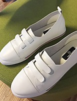 Women's Sneakers Fall Comfort / Round Toe Leather Casual Flat Heel Others White Others