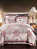 High quality Luxury Silk Cotton Blend Duvet Cover Sets Queen King Size Bedding Set