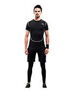 Running Clothing Sets/Suits men's Sleeveless Breathable / Quick Dry / Compression Polyester Yoga / Running