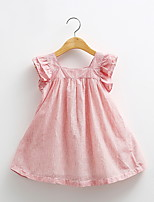 Baby Doll Dress New Girls Striped Dress Wood Ear
