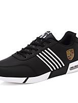 Men's Sneakers PU Casual Flat Heel Lace-up Black / Blue Running EU39-43