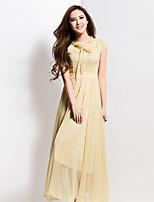 BORME® Women's Round Neck Short Sleeve Solid Color Maxi Dress-Z109