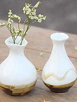 Jingdezhen Simple Ornaments Mini Hydroponic Plants Ceramic Vase Ornament (Random Style)