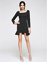 TS Couture® Cocktail Party Dress Sheath / Column Square Short / Mini Jersey