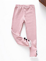 Girl's Casual/Daily Solid Leggings,Cotton Spring / Fall Pink / White / Gray