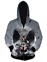 3D  Hoodie Long Sleeve Assassin's Creed Printing Clothing