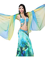Dance Accessories Belly Dance Veil Women's Performance Chiffon Pleated 1 Piece Multi-color