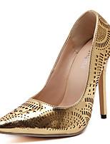 Damen-High Heels-Lässig-PU-Stöckelabsatz-Absätze / Spitzschuh-Silber / Gold