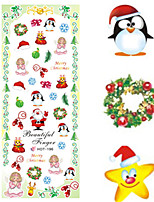 1 pcs Nail Art Water Transfer Christmas Sticker Lovely Christmas Image Nail Decoration HOT196