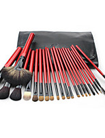 22 Makeup Brushes Set Mink Hair Portable Wood Face Others