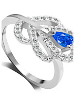 Ring Fashion Wedding / Party Jewelry Alloy Women Statement Rings 1pc,6 / 7 / 8 / 9 Blue