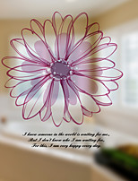 Window Film Window Decals Style Atmospheric Flowers Matte PVC Window Film - (60 x 58)cm