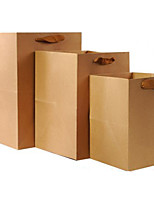 Kraft Paper Bags Flowers Bag Block Bottom Bag Of Generic Paper Bags Advertising Bags Customized Bag A Pack Of Five
