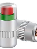005 dæktryk overvågning ventilhætten, metal dæktryk test ventil munden, trætte trykmåler (4stk)