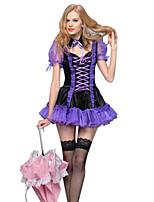 Costumes Zombie / Vampire / Ange et Diable Halloween / Noël / Carnaval / Nouvel an / Fête d'Octobre Violet Vintage Térylène Robe