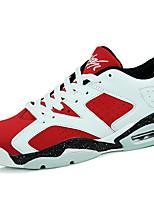 Dames Sneakers Zomer / Herfst Comfortabel / Dichte neus Microvezel Buiten / Informeel / Sport Platte hak Veters Zwart / Blauw / Rood / Wit