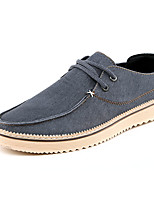 Men's Sneakers Spring / Fall Comfort Denim Dress / Casual Flat Heel Blue / Brown Walking