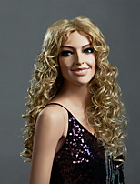 Hot Selling Blonde Color Long European Curly Women Synthetic Wigs