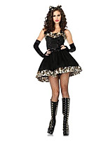 Animal Costumes / Zombie / Vampires / Bunny Girls Halloween / Christmas / Carnival Black Vintage Dress / Headwear