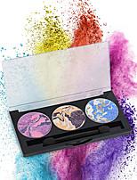 3 Palette de Fard à Paupières Sec Fard à paupières palette Poudre Compact NormalMaquillage de Fête / Maquillage Quotidien / Maquillage