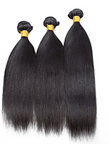 3 Pieces Straight Human Hair Weaves Brazilian Texture Human Hair Weaves Straight
