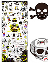 1 pcs Nail Art Water Transfer Halloween Sticker Horrible Skull Animal Image Nail Beauty HOT303