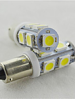 10pcs Car Marker Lamps BA9S 9SMD 5050 LED Auto License Plate Light Door Light bulb White(DC12V)