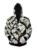 3D  Hoodie Long Sleeve Husky Printing Clothing