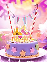 Partido Vajilla Accesorios para Pasteles Papel duro Cumpleaños tema rústico Other Sin personalizar Papel duro Multicolor 1Piezas / Juego