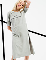 ARNE® Women's Round Neck 1/2 Length Sleeve Midi Dress-6213