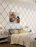 Rayure / 3D Fond d'écran pour la maison Contemporain Revêtement , Autre Matériel adhésif requis fond d'écran , Chambre Wallcovering