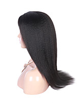 Evawigs Unprocessed Brazilian Virgin Human Hair Popular Afro Kinky Straight Lace Front Wig For Black Women