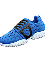 Men's Sneakers Spring / Fall Round Toe Tulle Athletic Flat Heel Others / Lace-up Black / Blue / Green Others