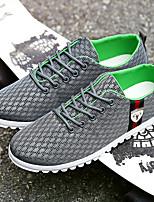 Heren Loafers & Slip-Ons Zomer Ronde neus / Comfortabel Tule Buiten Platte hak Veters Zwart / Blauw / Grijs Sneakers
