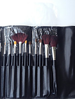 13 Makeup Brushes Set Others Professional / Full Coverage / Portable Wood Face / Eye / Lip  With Cosmetic Bag