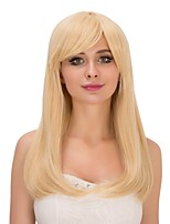 Fashion Women Straight Blonde Color Cosplay Heat Resistant Wedding Party Synthetic Wig