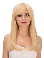 résistant fête de mariage perruque synthétique de mode féminine droite chaleur blonde couleur cosplay