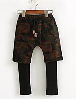 Boy's Casual/Daily Print Pants,Cotton Spring / Fall Black