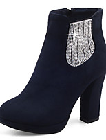 Women's Boots Fall / Winter Fashion Boots / Round Toe Party & Evening / Casual Chunky Heel Sequin / Gore / Zipper