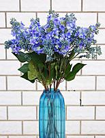 1 1 Une succursale Polyester / Plastique Lilas Fleur de Table Fleurs artificielles 27.5inch/70cm