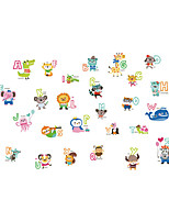 Wall Stickers Wall Decals Style Cartoon Animal Alphabet PVC Wall Stickers