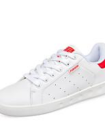 Da donna-Sneakers-Casual-Ballerine-Piatto-Di pelle-Nero / Verde / Rosso / Nero e bianco